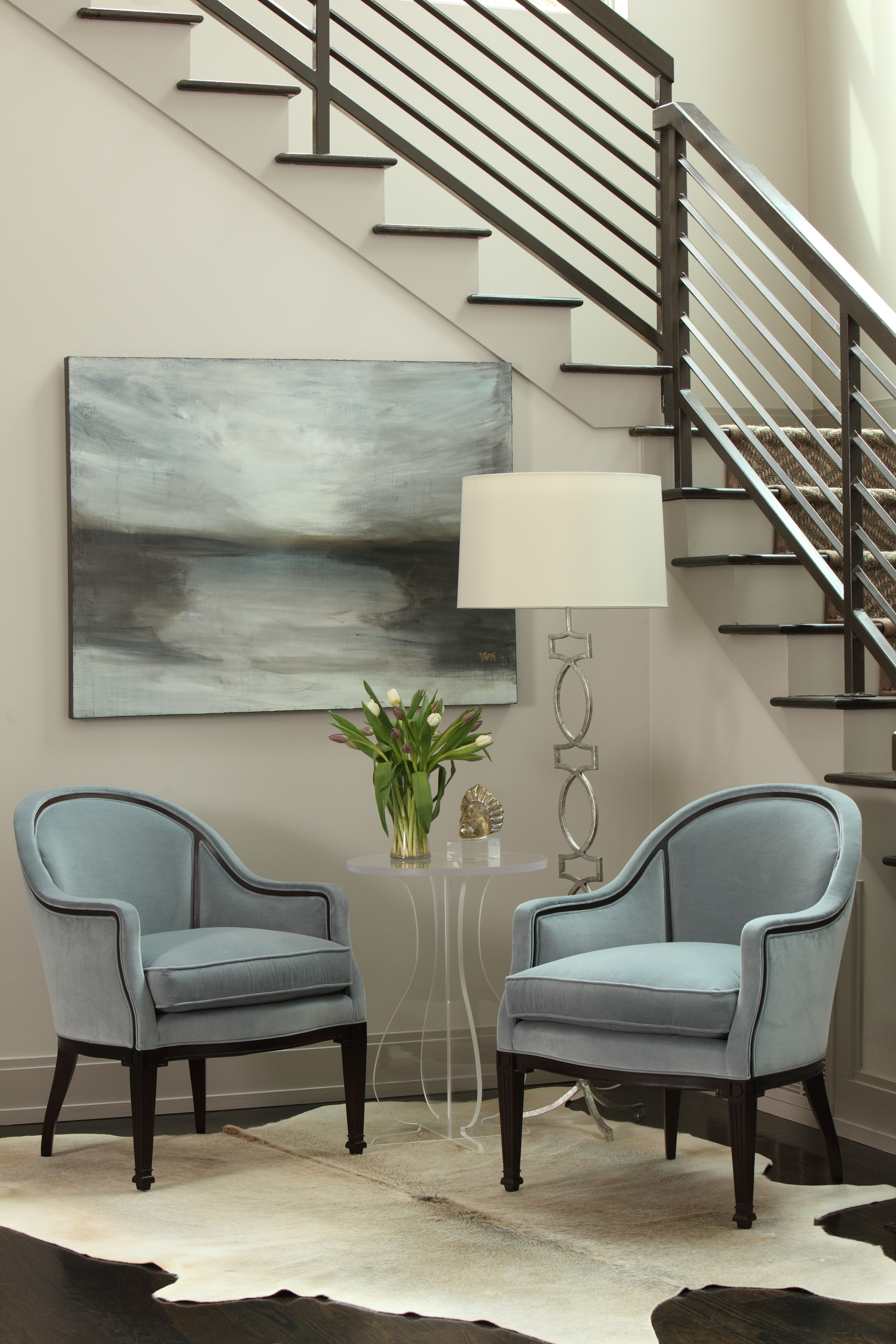 Contemporary Foyer Chairs : Entry foyer modern lighting design
